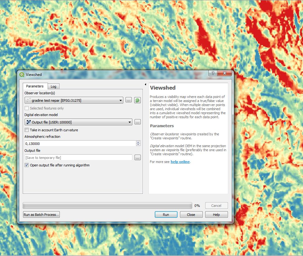 Quantum GIS plugin for visibility analysis | QGIS Visibility Analysys